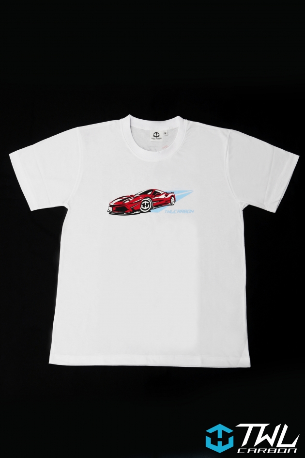TWLCarbon Ferrari 488 Limited Edition T-shirt (White) 4
