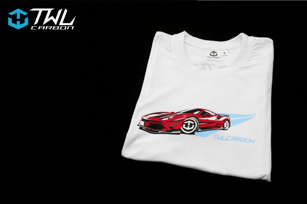TWLCarbon Ferrari 488 Limited Edition T-shirt (White) 2